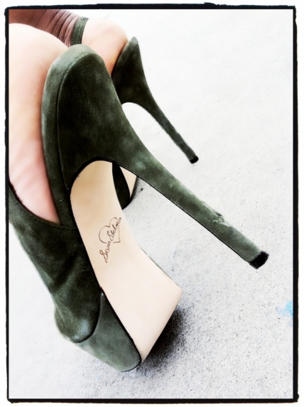 Sam Edelman Suede Platform green Shoes