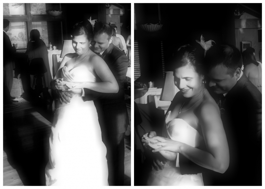 Black &amp; white wedding iPhone photo